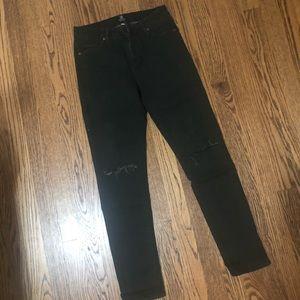 Just Black Jeans - Just black distressed green jeans